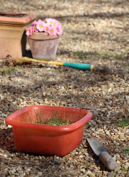 Ménage de printemps sur terrasse